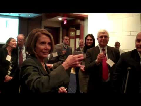 Nancy Pelosi Toasts Italian American Congressional Delegation