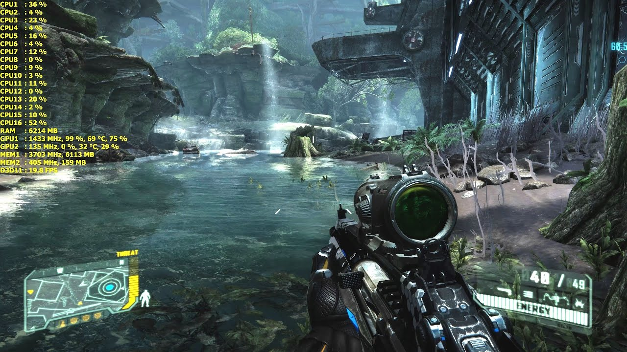 crysis 3 | gtx 980 ti | 8k resolution | frame rate test | 5960x