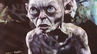 The Hobbit - Gollum Ballpoint Pen Drawing