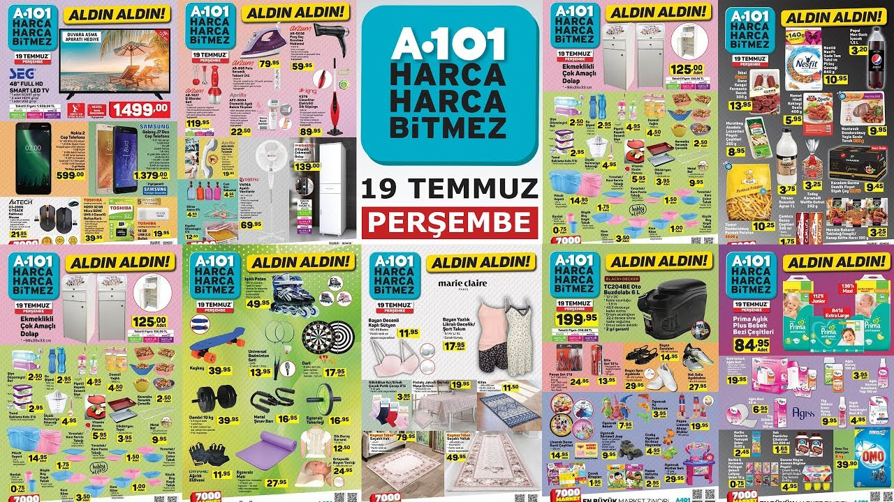 A101 19 Temmuz Kataloğu