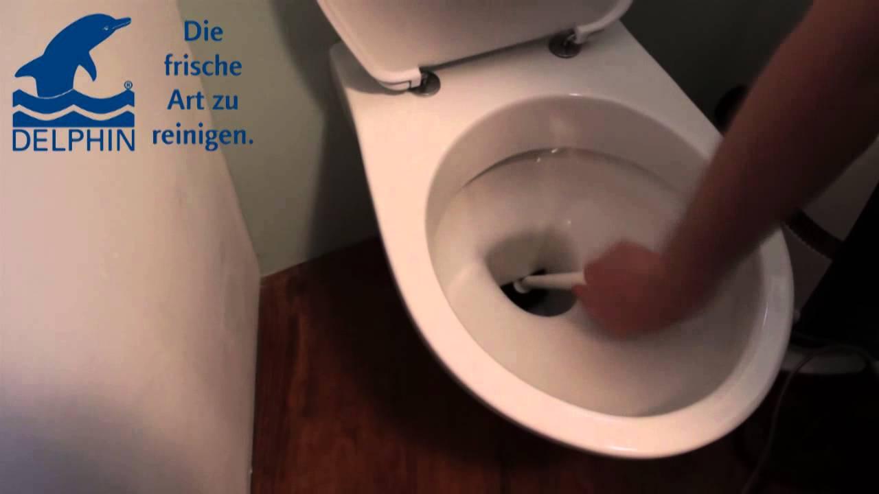 Toilette Richtig Reinigen toiletten reinigung leicht gemacht mit delphin