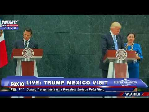 FNN: Donald Trump Meets With Mexico President Enrique Pena Nieto Before MAJOR IMMIGRATION Speech