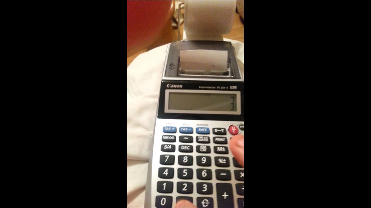 P 1DH P1-DH Canon Ink Rollers Canon Calculator P1DH