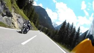 Austrian Alps mountain pass motorbike timelapse