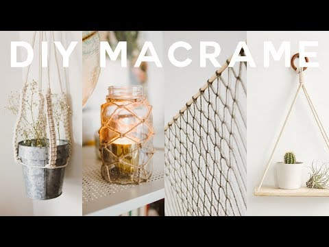 DIY Macrame Room Decor 2018 🍂Boho + Anthropologie (Wall Hanging, Plant Holder + MORE) // Lone Fox