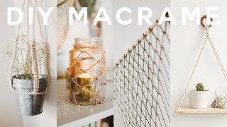 Diy Macrame Room Decor 2018 🍂boho   Anthropologie (wall Hanging, Plant Holder   More) // Lone Fox
