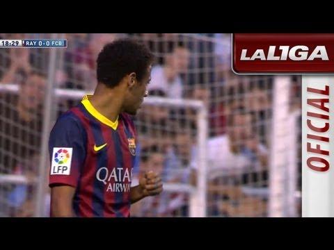 Jugada entre Messi y Neymar