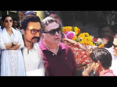 Reema Lagoo का अंतिम संस्कार, नम आंखों से बिदाई, आमिर, काजोल और ऋषि पहुंचे - Last Rites