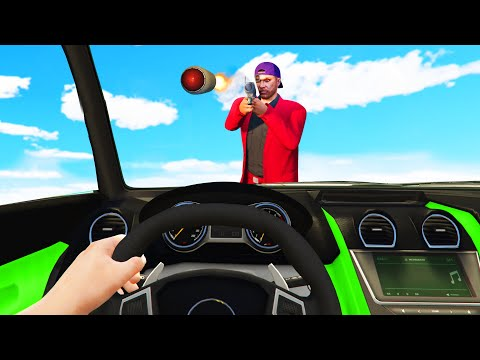 DODGE The RPG's At 350MPH! (GTA 5 Funny Moments) thumbnail
