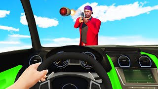 DODGE The RPG's At 350MPH! (GTA 5 Funny Moments)