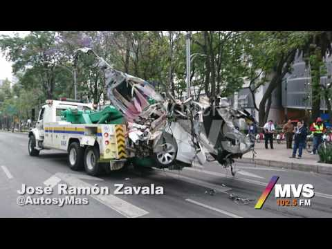 Terrible accidente en Reforma CDMX