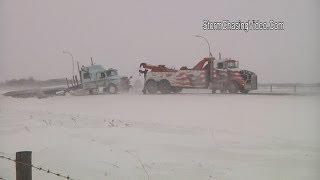 1/16/2014 Alexandria, MN Ground Blizzard & Crashes Shut Down Interstate 94