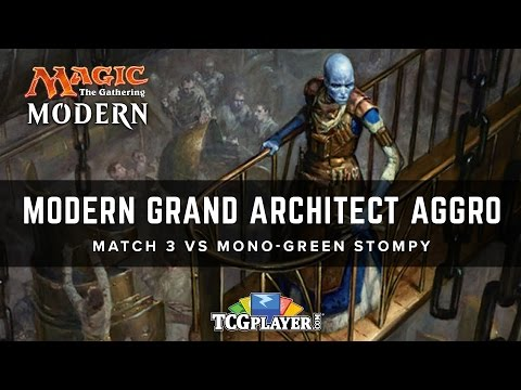 [MTG] Modern Grand Architect Aggro | Match 3 VS Mono-Green Stompy