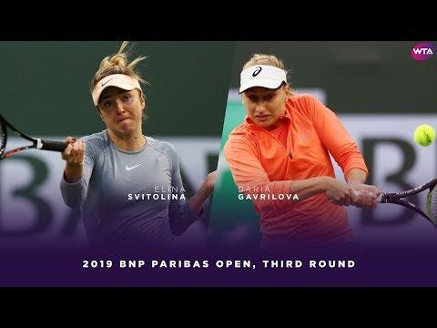 Elina Svitolina vs. Daria Gavrilova   2019 BNP Paribas Open Third Round   WTA Highlights