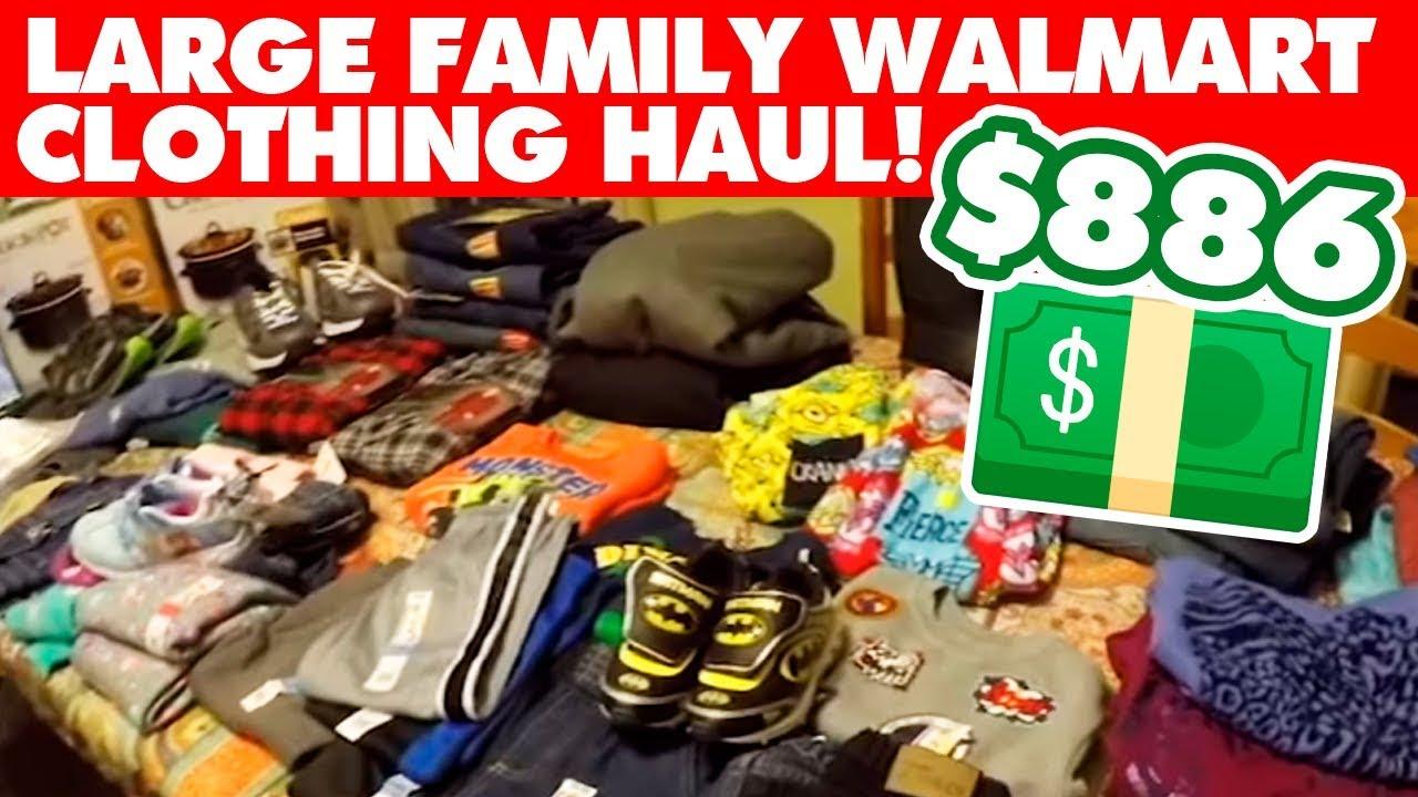 43c80d81875 Large Family Walmart Clothing Haul