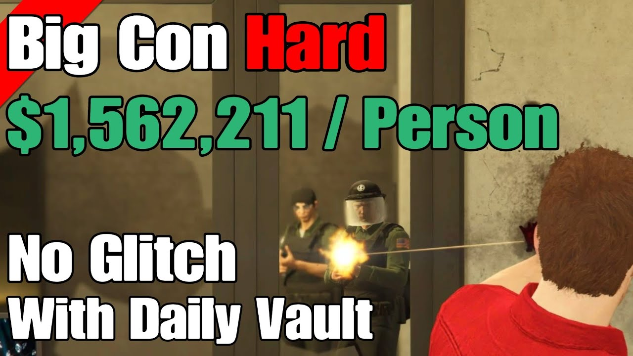 GTA Online Diamond Casino Heist $1,562,211/Player With Daily Vault (Big Con Hard) thumbnail