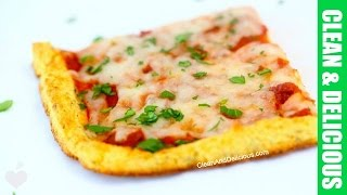 Cauliflower Crust Pizza That Does NOT Fall Apart!