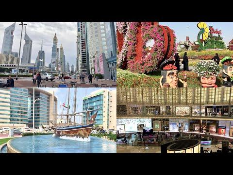 Amazing Dubai, Burj Khalida Miracle Garden Beach Malls Light Show Zoo Fountain Scenery