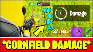 DEAL DAMAGE FROM INSIDE A CORNFIELD AT FRENZY FARM & CORNFIELD LOCATIONS (Fortnite Week 3 Challenge)