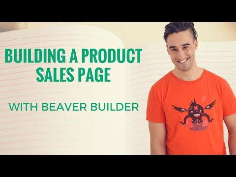 Sales page with Beaver Builder