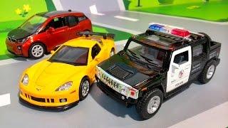 Мультики. Полицейские машинки все серии подряд. Мультфильмы для детей Про машинки