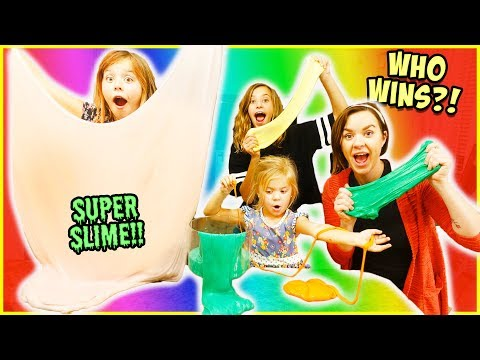 EPIC SLIME!!  FAMILY SHOW-DOWN!!