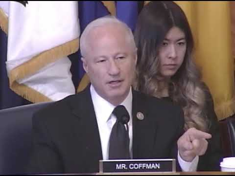 Rep. Coffman at House Veterans' Affairs Committee - Nov 29, 2018