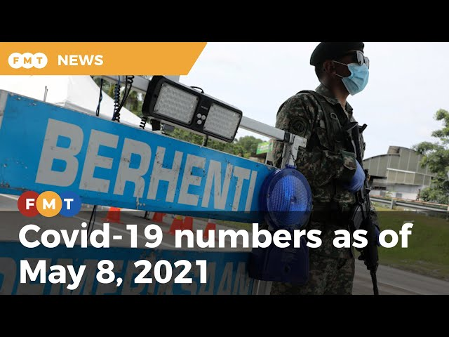 Covid-19 numbers as of May 8, 2021