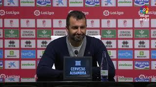 Rueda de prensa de Diego Martínez tras el Granada CF vs Real Zaragoza (1-0)