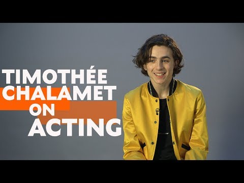 Timothée Chalamet Interview on Acting & Call Me By Your Name