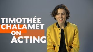 Timothée Chalamet on Acting & Call Me By Your Name