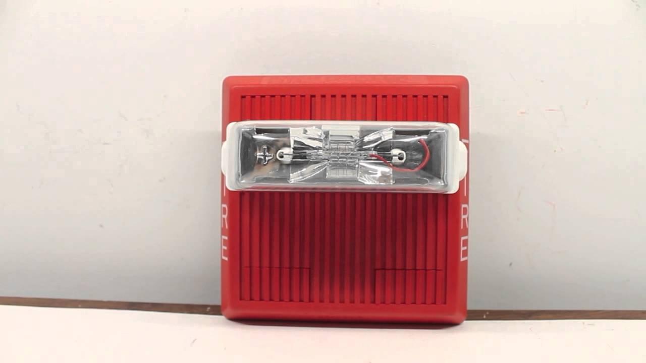 Wheelock Exceder 24VDC Horn Strobe Model HSR Wall-Mount Red  |Wheelock Fire Alarm Horn Strobe