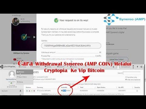 Cara Withdrawal Synereo ( AMP COIN)  Melalui Cryptopia Ke Vip Bitcoin