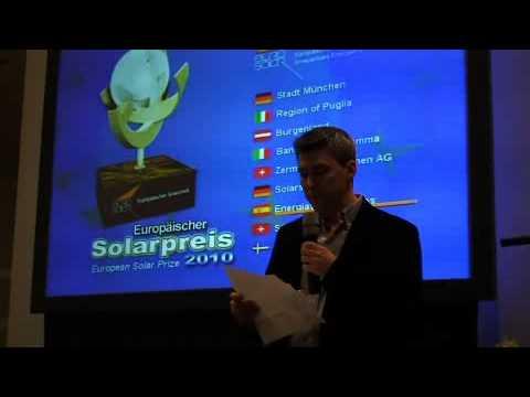 European Solar Prize 2010 Video Energías Renovables