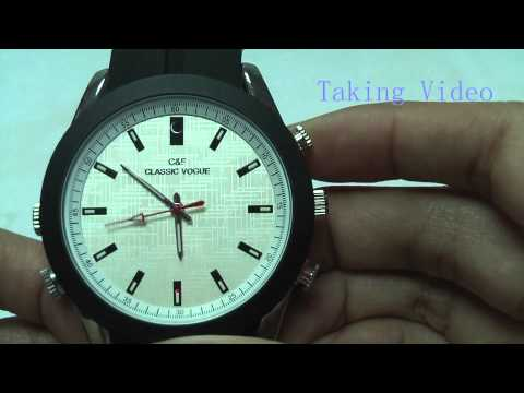 Analog Watch with HD Spy Camera & MP3 Player (4GB) | Spy Camera Watch Review