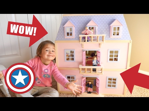 New Melissa Doug Giant Dollhouse Dream House With Furniture