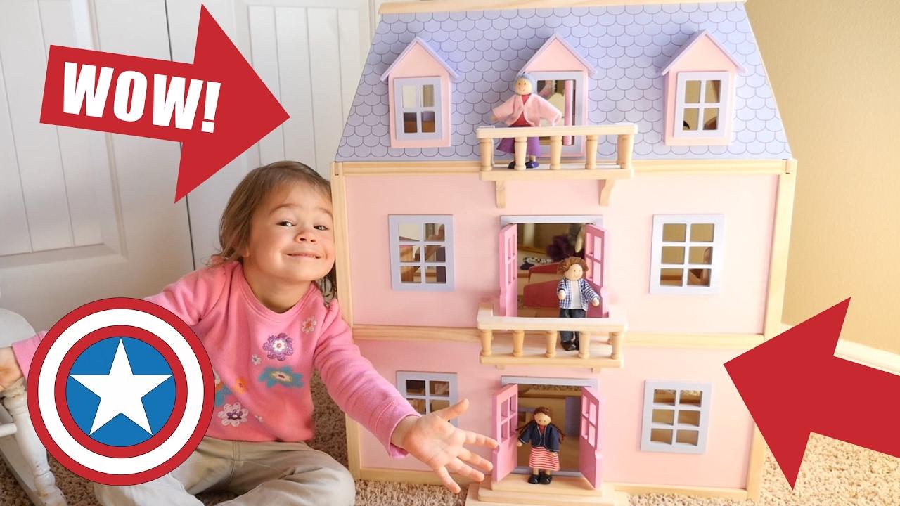 NEW Melissa U0026 Doug GIANT Dollhouse Dream House With Furniture U0026 Dolls