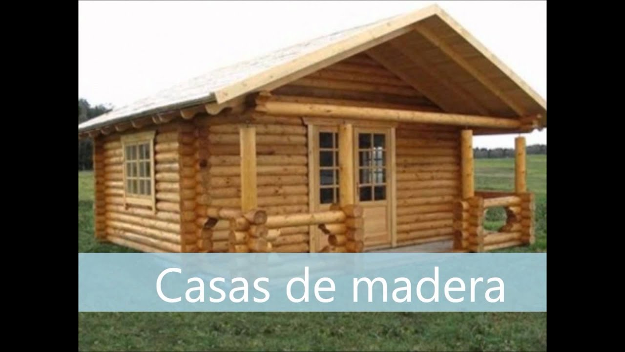 Tipos de viviendas video para preescolar youtube for Fotos de casas de madera