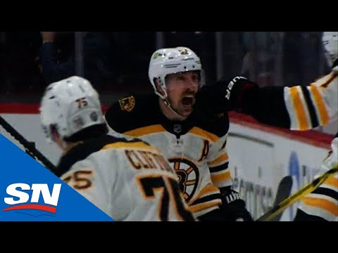 Boston Bruins winning goal in overtime over The Washington Capitals to tie the series at one