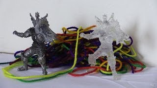 How To Make A Two Part Mold And Cast Crystal Clear Medieval Knight Action Figures