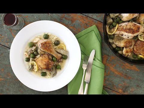 One Pot Braised Chicken with Artichokes and Lemon - Everyday Food with Sarah Carey