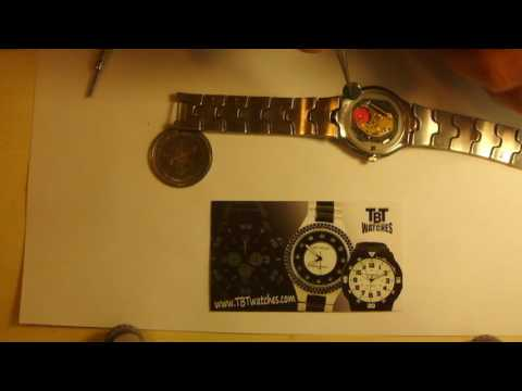 How to change a battery on Kenneth Cole New York Watch