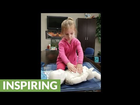 3-year-old girl flawlessly performs CPR routine
