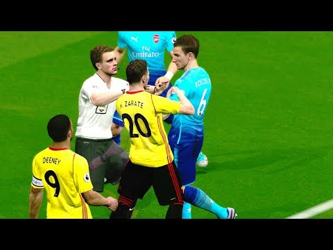Arsenal vs Watford 14 October 2017 Gameplay