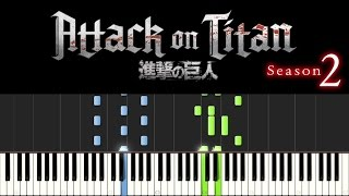 Attack on Titan (Piano Tutorial) - Season 2 Opening Theme (+ sheets)