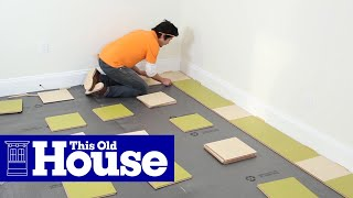 How to Install a Linoleum Tile Floor - This Old House