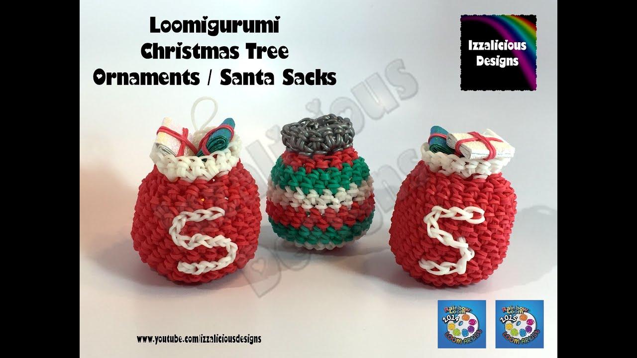 Easy Christmas Amigurumi : Loomigurumi christmas tree ornament santa sack amigurumi w