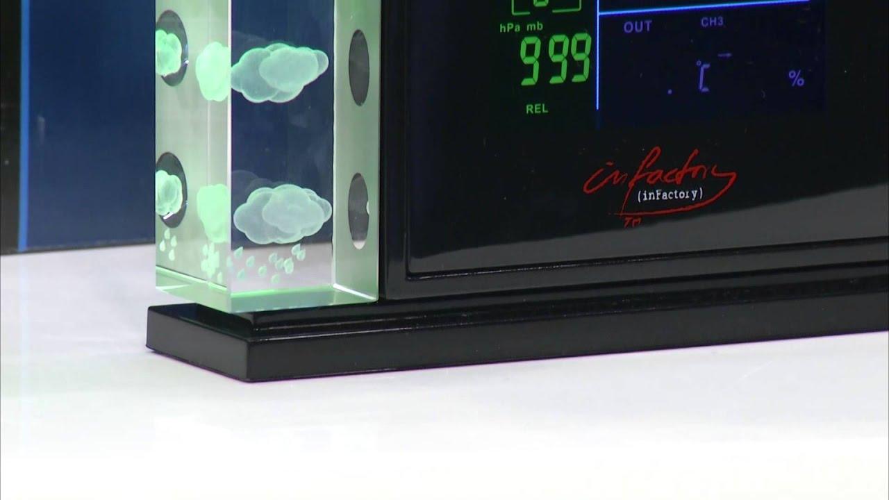 infactory 3d wetterstation mit hologramm projektion au ensensor youtube. Black Bedroom Furniture Sets. Home Design Ideas