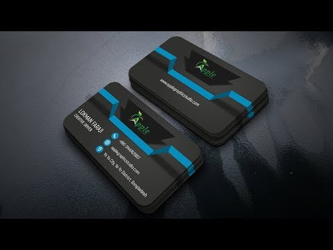 How to Create 3D Business Card Design  Photoshop Tutorial