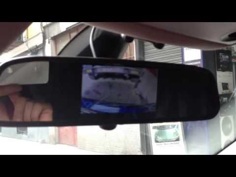 C mara de marcha atr s con imagen en retrovisor interior for Espejo retrovisor interior